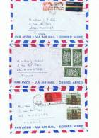 L-CAN7 - Lot De 3 Lettres Par Avion - 1952-.... Règne D'Elizabeth II