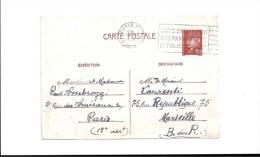 CPA -  PARIS  28/06/1942  - AMBROGGI Pour  LAURENTI à  MARSEILLE  -  Notre Empire Veut Une Marine Forte ( Cahet ) - France
