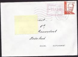 België 2004 Brief Naar Nederland Met Opwaardering Frankeermachine Stempel - Postage Labels