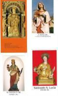 S. LUCIA V. E M. - LOTTO 4 SANTINI - M - Religione & Esoterismo