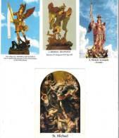 S. MICHELE ARCANGELO - LOTTO 4 SANTINI - M - Religione & Esoterismo