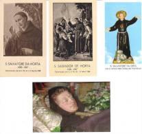 S. SALVATORE DA HORTA - LOTTO 4 SANTINI - M - E - Religione & Esoterismo