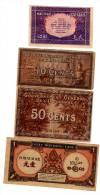 Série De 4 Billets Gouvernement General D'Indochine  10,20 Et 50 Cents  ET 1 Piastre Banque De L'Indochine - Indochine