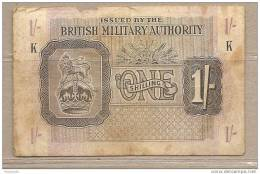 Autorità Militare Britannica - Banconota Circolata Da 1 Scellino - Military Issues