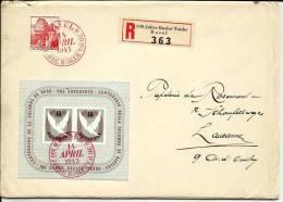 SUISSE  1946   BLOC FEUILLET N° 12 SUR LETTRE     BASEL       SUPERBE - Schweiz