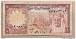 Arabia Saudita - Banconota Circolata Da 1 Riyal - Arabia Saudita