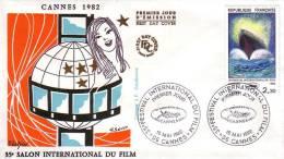 FDC   35e Festival International Du Film à Cannes 1982 - 1980-1989