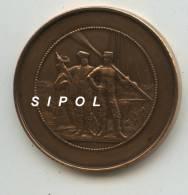 Medaille De Bronze Pont à Mousson 25 Aout 1901 - 2 Rameurs 3è Prix Périssoire Dans Grosloup - Remo