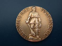 Medaille Suisse - Die Historischen Denkmäler Der Schweiz - Vögelinsegg - Non Classés