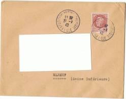 1942 - LILLE - Exposition Antibolchévique + Pétain Type Bersier - Pour Elbeuf -  Yvert & Tellier N° 517 - Guerre De 1939-45