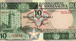 SOMALIA 10 SHILIN 1987 PICK # 32 UNC. - Somalia