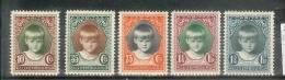Caritas 1929 - Yv 214-218- Mi 213-217- Neuf Charnière - MH - Neufs