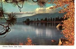 BR30917 Autumn Sunset At Lake Tahoe      2 Scans - Etats-Unis