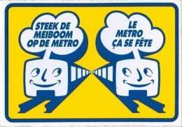 Métro De Bruxelles -  Inauguration Du 20 Septembre 1976 (Autocollant) - Old Paper