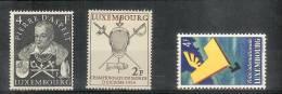 Pierre D´Aspelt - Escrime - Foire - Yv 475, 482, 483 - Mi 516, 523, 524 - Neuf Charnière - MH - Luxembourg