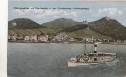 BR37778 Konigswinter Mit Drachenfels Ship Bateaux     2 Scans - Koenigswinter