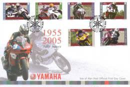 """ISLE OF MAN 1211-6 """"Gewinner Von Tourist-Trophy-Rennen Auf Yamaha-Motorrädern"""" Schmuck-FDC - Man (Ile De)"""