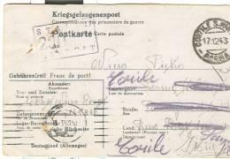 CARTOLINA POSTALE  PRIGIONIERI DI GUERRA  DALLA GERMANIA,  STAMMLAGER  XVII A  - VIAGGIATA  1943 X CORTILE S. MART PARMA - Prigione E Prigionieri