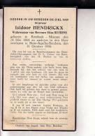 KERSBEEK-MISCOM Isidoor HENDRICKX Veuf BUYDENS 1864-1936 SINTE-AGATHA-BERCHEM Doodsprentje - Devotieprenten