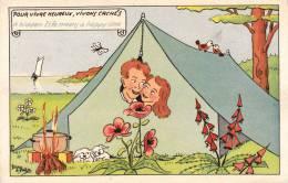 HUMOUR CAMPING CARTE HUMOURISTIQUE ILLUSTRATEUR DE PREISSAC - Humor