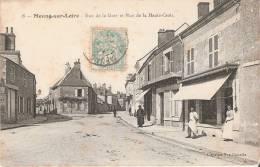 Meung-sur-Loire (45 ) La Rue De La Gare Et La Rue Haute-Croix - Autres Communes