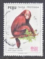 Peru C 411  (o)  ENDANGERED  FAUNA - Peru