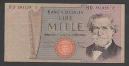 ITALY,  1000 Lire ,1969 ,No´ 101,F.. - [ 2] 1946-… : Repubblica