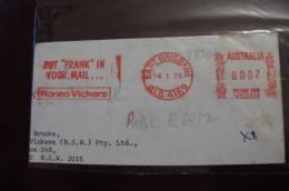 DB - Australia Meter Mark 1973 Put Frank In Your Mail.... Roneo Vickers - Bolli E Annullamenti