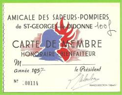 17 - SAINT GEORGES DE DIDONNE - Carte De L'Amicale Des Sapeurs Pompiers - Année 1957 - Saint-Georges-de-Didonne