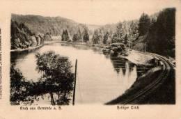 Gruss Aus Gernrode A. H. - Heiliger Teich (Eisenbahn, Railroad) Ungeteilte Rückseite - Non Classés