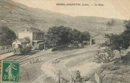 Bourg  Argental La Gare Train  Ecrite 1912 - Bourg Argental