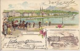 5137 -  Luzern Litho En 1899  + MöbelFabrik L.Meyer Reiden - LU Lucerne