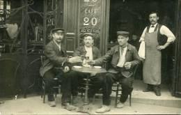 N°25772 -carte Photo Café -papier Photographique  Duvau Colombes- - Cafés