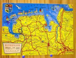 ALLEMAGNE  BORKUM  OSTFRIESLAND LANDKARTE CARTE GEOGRAPHIQUE - Borkum