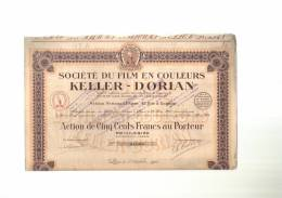 Société  Du  FILM  En  COULEUR  KELLER - DORIAN  -  PARIS  01/10/1924  -  Action Entière - Cinéma & Théatre