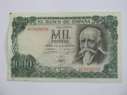 1000 Pesetas - Mil Pestas - ESPAGNE-  17.09.1971. El Banco De ESPANA - [ 3] 1936-1975 : Régence De Franco