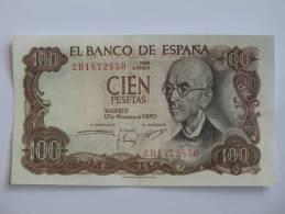100 Pesetas - Cien Pestas - ESPAGNE-  17.11.1971. El Banco De ESPANA - [ 3] 1936-1975 : Régence De Franco