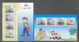 Philippines - Pilipinas (2010) - 2 Blocks  -  /  Mail - Correo - Poste - Transport - Car - Voiture - Motos