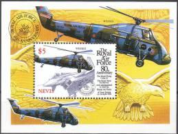 """NEVIS Block 149(1287) """"80 Jahre Royal Air Force(RAF)"""" MNH / ** / Postfrisch - St.Kitts Und Nevis ( 1983-...)"""