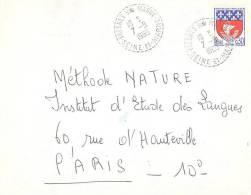 2061 FRESNES / MARNE Seine Et Marne Blason Paris 0,30F Yv 1354B Ob Cercle Pointillé Recette-distribution 1965 Lautier B8 - Postmark Collection (Covers)