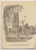 St. Nectan's Church, Hartland - Artist Drawn Gift Card - Géographie
