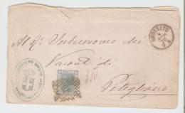Sovracoperta  Grosseto - Pitigliano 1876  Annullo Numerale A Punti N.  88 - 1861-78 Vittorio Emanuele II