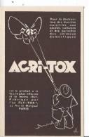 PUBLICITE - ACRI-TOX - Werbepostkarten