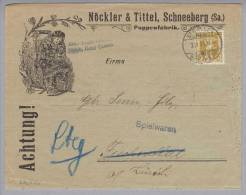 Motiv Puppen-Fabrik Nöckler&Tittel Illustrierter Brief 1909-02-03 St.Gallen - Puppen