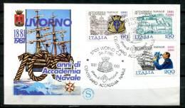 "First Day Cover Italien 1981 Mi.Nr.1763/65 Ersttagsbrief ""Marineakardemie,Livorno "" 1 FDC - 6. 1946-.. Repubblica"