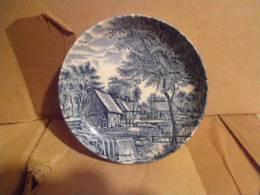 Assiette Miniature Diam 10,5 Cm Made In England Signée Johnson Bros Thème Moulin à Eau - Johnson Bros.