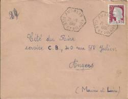 2292 AMANLIS Ile Et Vilaine Lettre 1263 Marianne 25c Decaris 21 9 1961 Hexagone Pointillé Agence Postale Lautier F7 - Postmark Collection (Covers)