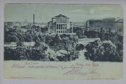 Lettland RIGA Das Theather 1917-03-27 Foto Feldpost-Stempel - Lettonie