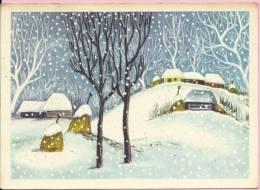 HAPPY NEW YEAR - SNOW IS FALLING, 1965., Yugoslavia (Naša Djeca, Zagreb) - Anno Nuovo