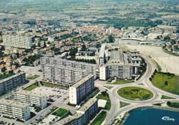 CPSM MONTCEAU LES MINES 71 VUE GENERALE AERIENNE IMMEUBLES CITE CIM - Montceau Les Mines
